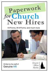 Paperwork for Church New Hires